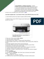 Cara Mereset Printer Canon MP287