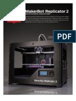 MakerBot Replicator2 Brochure