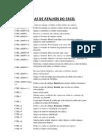 Teclas de Atalhos Do Excel