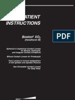 Boston Xo 2 Patient Instructions