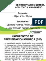 Yacimientos de Precipitación Quimica