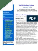 NAPPP Feburary 2013 Newsletter