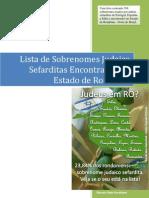 Judeus Em Rondonia