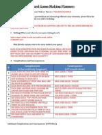 Appendix C- Board Game Making Planner- Teacher Example