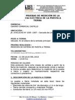 Puesta a Tierra Centro Comercial Castillo