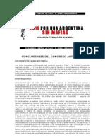 Red Antimafia Conclusiones del Congreso organizado por Fundación La Alameda