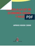 Crítica a la ley de economía Social y solid aria