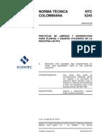 NTC5245 - LIMPIEZA Y DESINFECCIÓN INDUSTRIA LACTEA