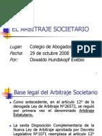 El Arbitraje Estatutario Oswaldo Hundskopf