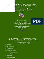 Presentation - Event Planning and Contract Law