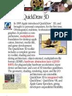 QuickDraw 3D Fact Sheet