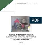 Estudio de Pre Inversion Agua Potable