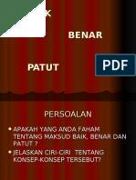 2. BAIK BENAR PATUT