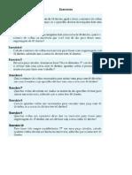 Exercícios cálculo de divisor