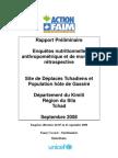 ACF, Rapport Préliminaire