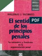 El Sentido de Los Principios Penales - Yacobucci, Guillermo