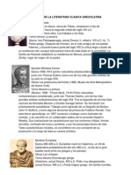 Autores de La Literatura Clasica Grecolatina