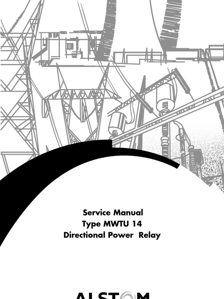Service Manual Type MWTU 14 Directional Power Relay