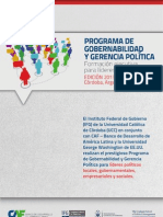 Programa Gobernabilidad y Gerencia Política 2013