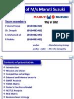 Startegy of Maruti Suzuki