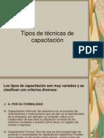 Tipos de técnicas de capacitación