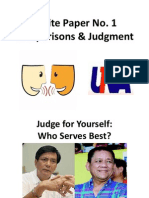 White Paper No. 1 - Comparison, Contrast, and Judgment