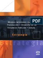 Violencia Familiar y Sexual, Estrategia de Prevencion De