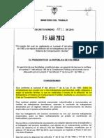 decreto 0721 de 2013 - afiliacion de trabajadores al sistema de compensacion familiar.pdf
