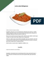 Receta salsa Bolognesa y Lasaña Italiana