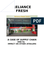Market Research on RELIANCE FRESH and Impact on Other Retailers