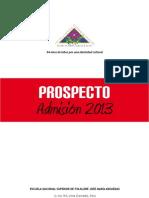 009. X. Secret - Prospecto Admisión 2013