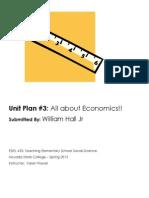 EDEL453 Spring2013 WilliamHall Unit 3 Economics PLANNER