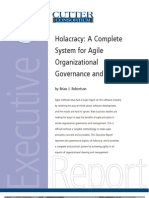 Holacracy - A Complete System for Agile Organizational Governance and Steering