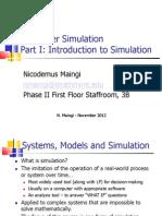 BIF3203 - Part I Intro to Simulation (November 2012)