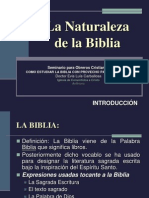 000 INTRODUCCION - La Naturaleza de La Biblia