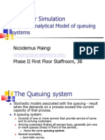 BIF3203 - Part II Analytical Model of Queuing Systems (November 2012)