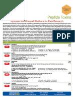 Peptides International's Peptide Toxins Brochure