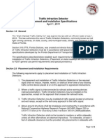 Traffic Infraction Detector Placement and Installation Specifications April 1, 2011