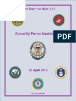 Joint Doctrine Note 1-13, Security Force Assistance, 2013, US Unclassified, uploaded by Richard J. Campbell