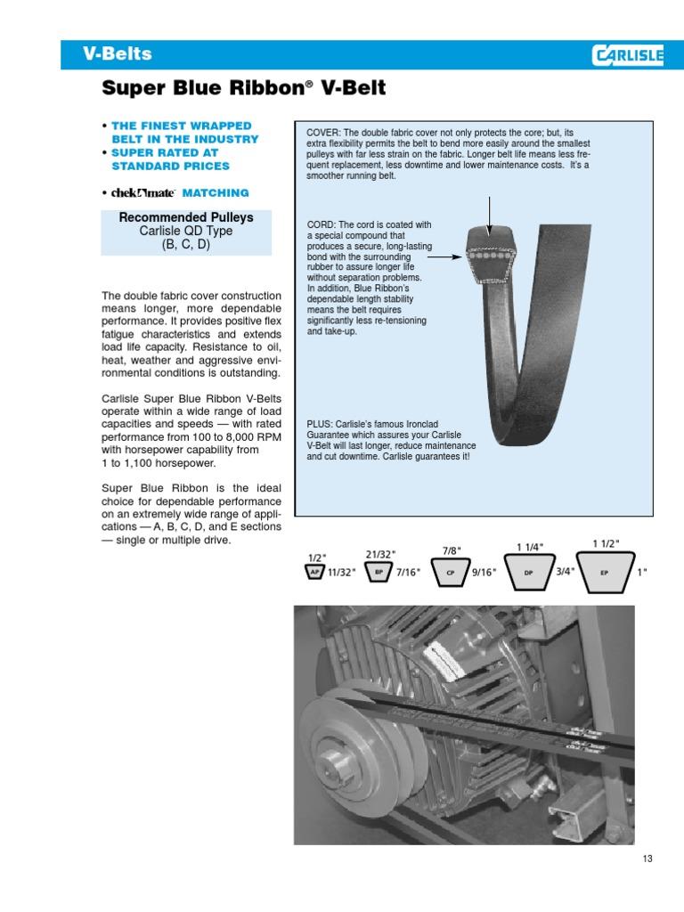 Dayco AP29 Super Blue Ribbon V-Belt