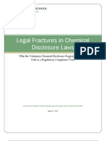 Legal Fractures in Chemical Disclosure Laws
