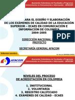 PROYECTO PARA EL DISEÑO Y ELABORACIÓN DE LOS EXÁMENES DE CALIDAD DE LA EDUCACIÓN