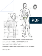 Tratamento com acupuntura  otosporose e doenças das articulações