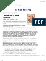 the teacher as warm demander