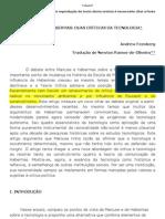 FEENBERG - MARCUSE OU HABERMAS DUAS CRÍTICAS DA TECNOLOGIA