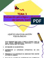 Tema 3. Evaluacion Psicologica y Examen Del Estado Mental