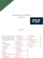 A Probability and Statistics Cheatsheet 1