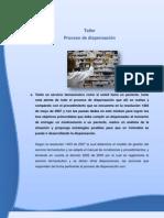 TALLER DE PROCESO DE DISPENSACIÓN DE MEDICAMENTOS