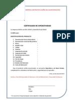 Certificado de Herramientas-Equipos