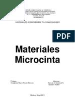 Materiales Microcinta